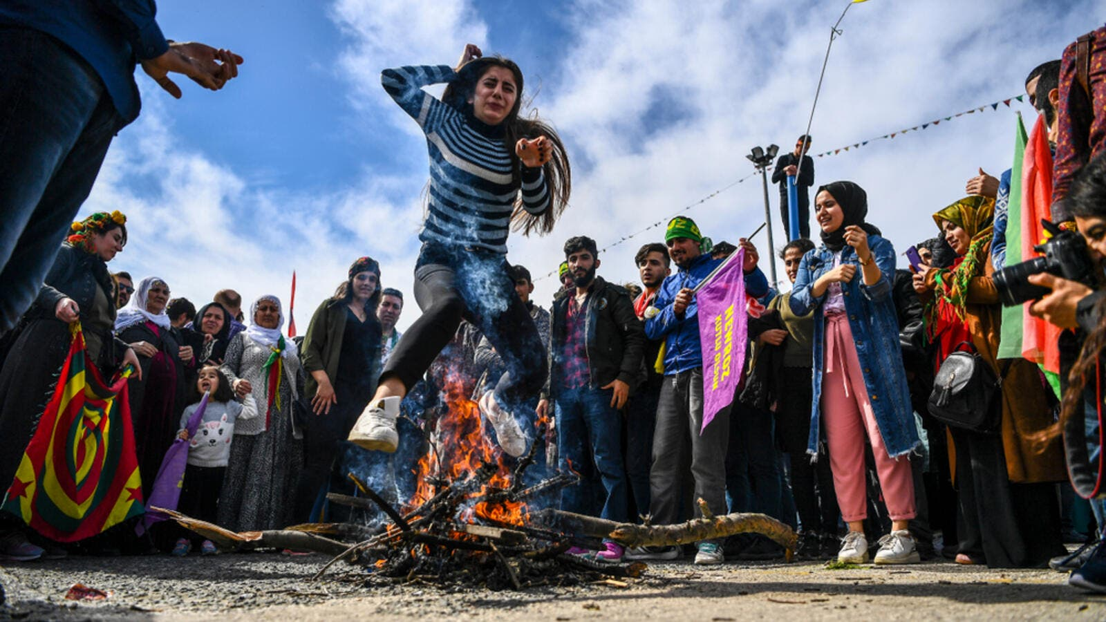 Kurds gathered to celebrate Newroz (Shutterstock)