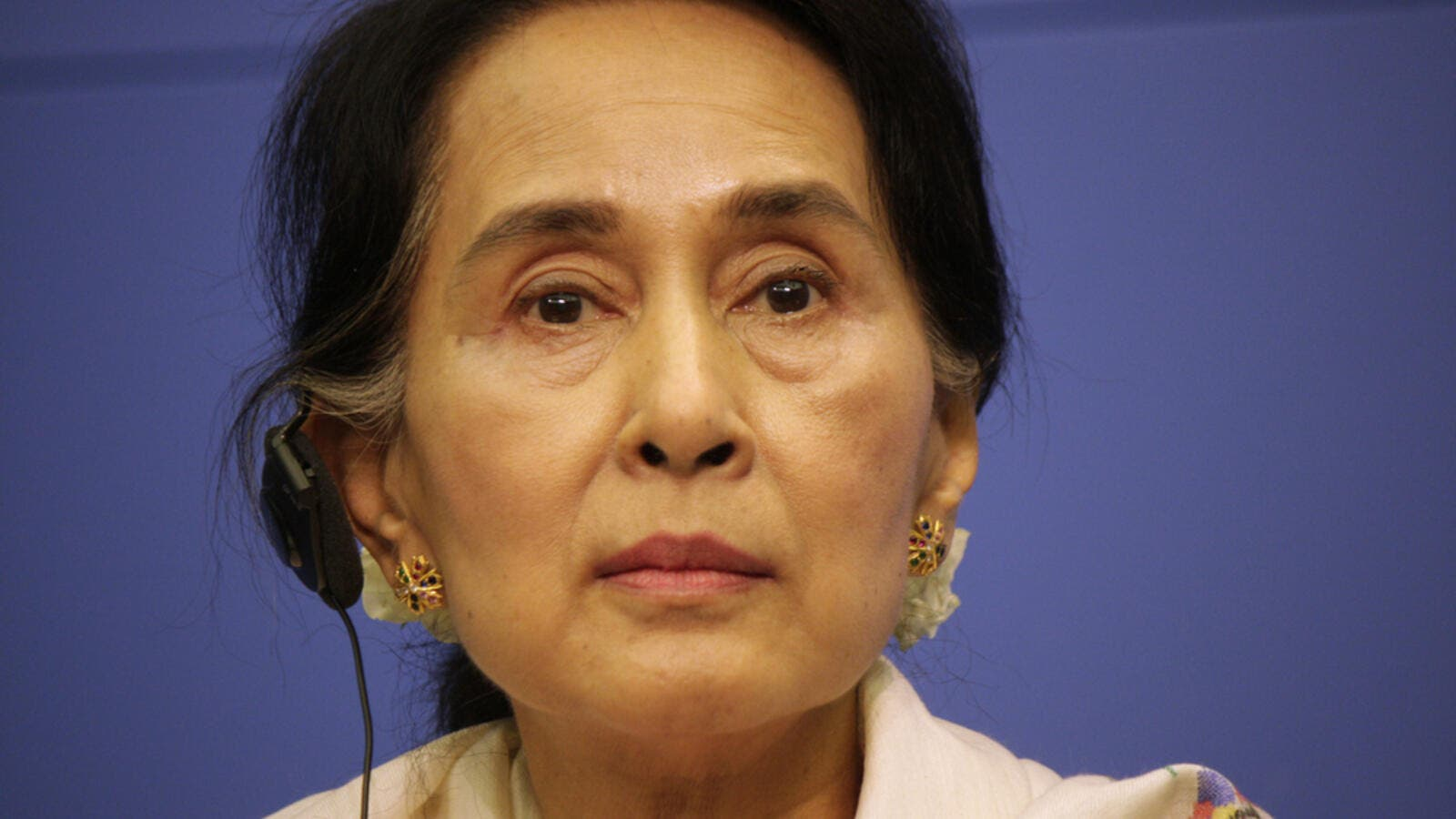 The portrait belonged to Suu Kyi's husband, the Oxford academic Michael Aris, and was bequeathed to the college after his death in 1999 (Shutterstock/File Photo)