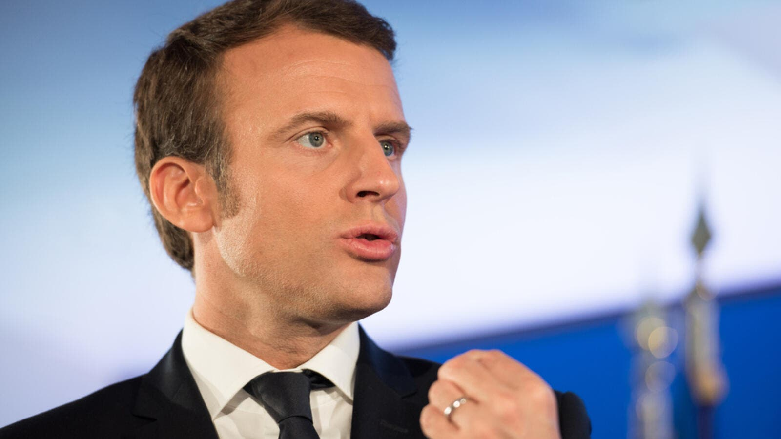 "Macron said it was necessary ""to increase international pressure on Iran"" but not ""break off dialogue"" (Shutterstock/File)"