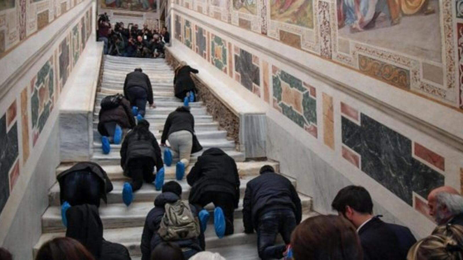 The Scala Sancta, or Holy Staircase (Twitter)