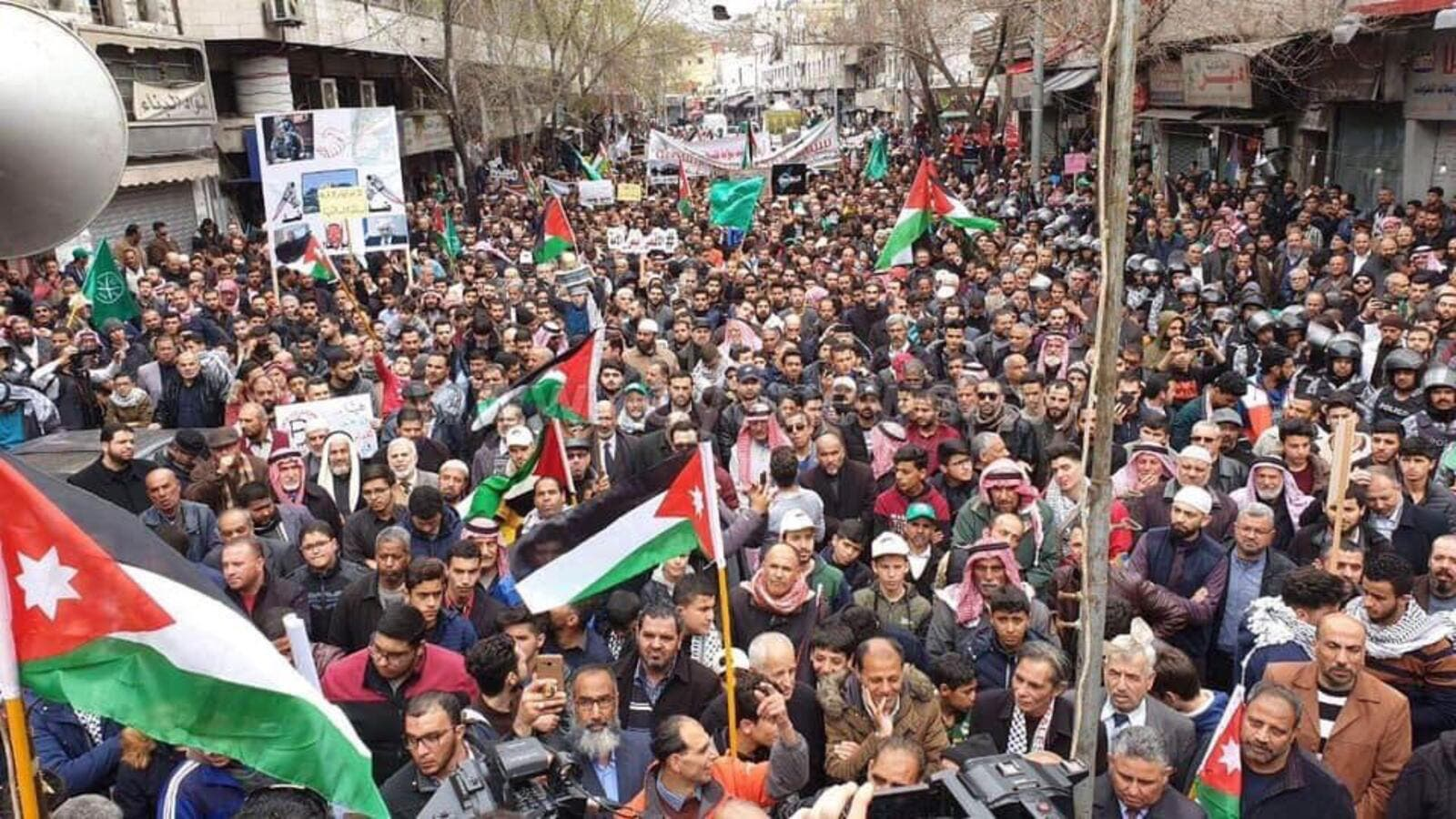 March in Amman to support Jerusalem (Twitter)