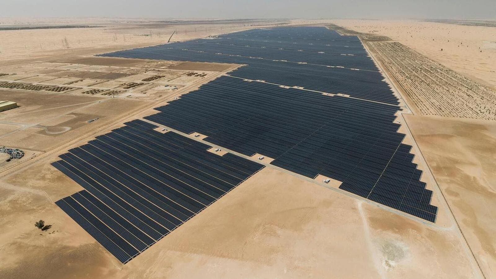 Noor Abu Dhabi is the worlds largest solar panel project /AFP