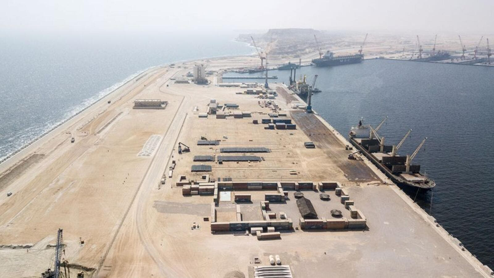 The strategic port of Duqm in Oman provides vital linkage to the East (AFP)