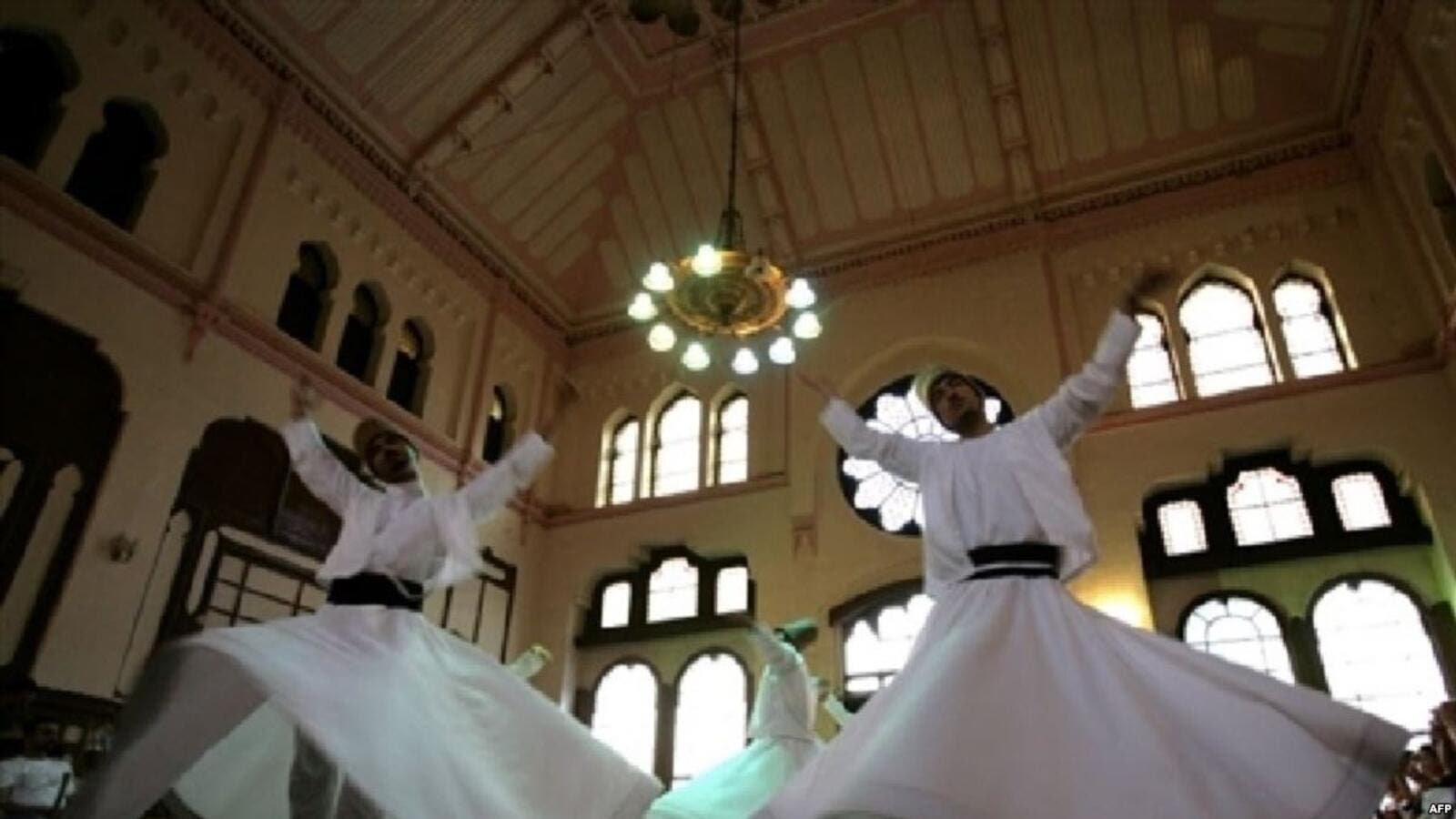 Sufi whirling is a form of physically active meditation which originated among Sufis, and which is still practiced. (AFP/FilePhoto)