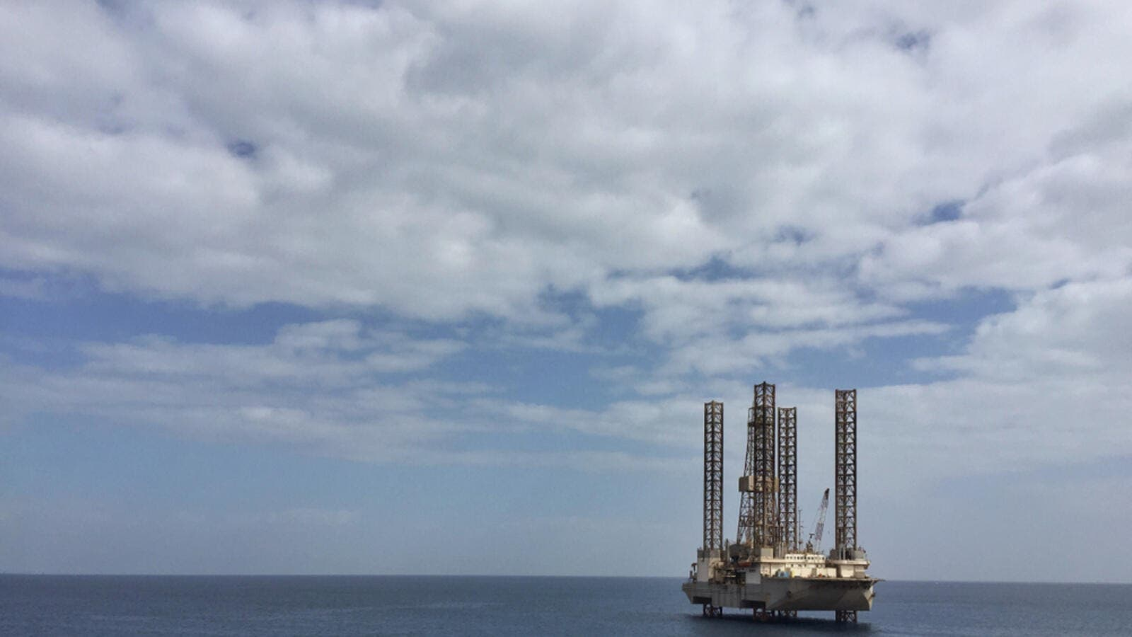 Offshore Jackup Drilling Rig in the Gulf Of Suez.