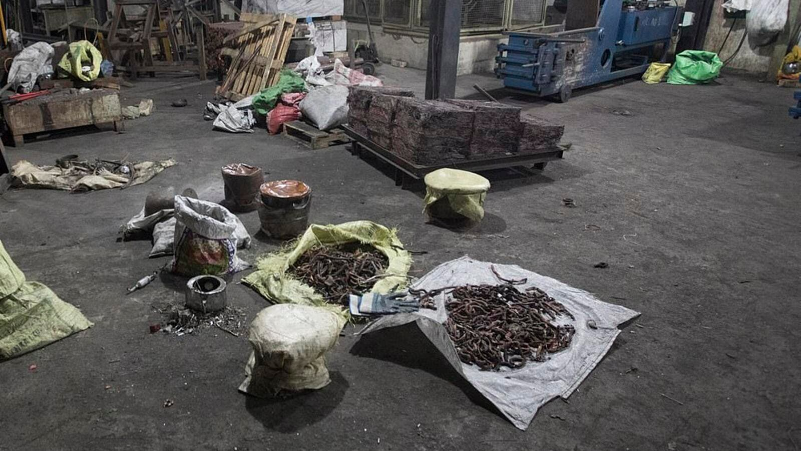 The copper factory in Wellampitiya, a suburb of Colombo, was raided by police in Sri Lanka last night. (Daily News)