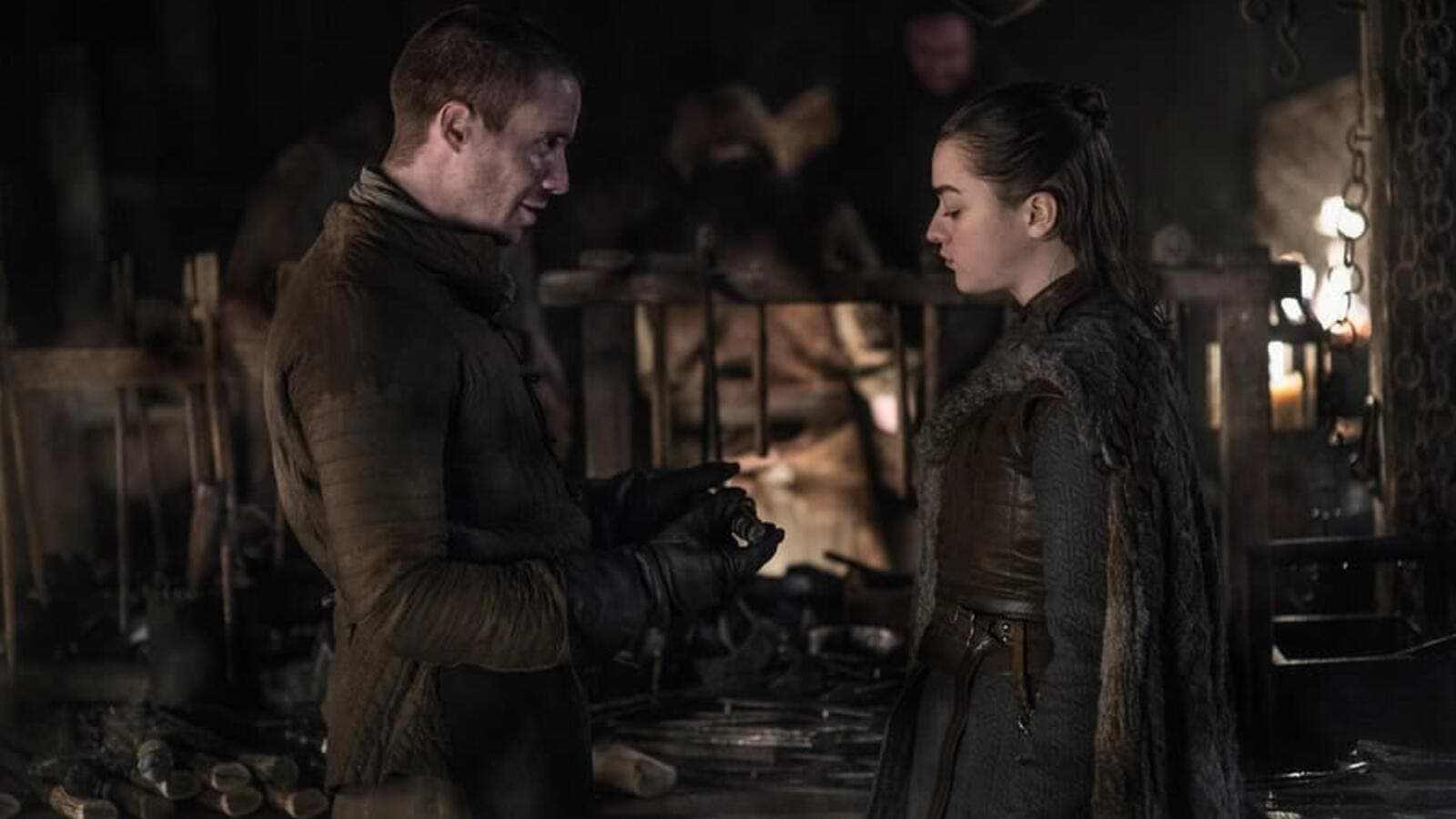 Arya Stark (Maisie Williams) got intimate with her lifelong friend Gendry (Joe Dempsie) in an unexpected nude scene. (Twitter)