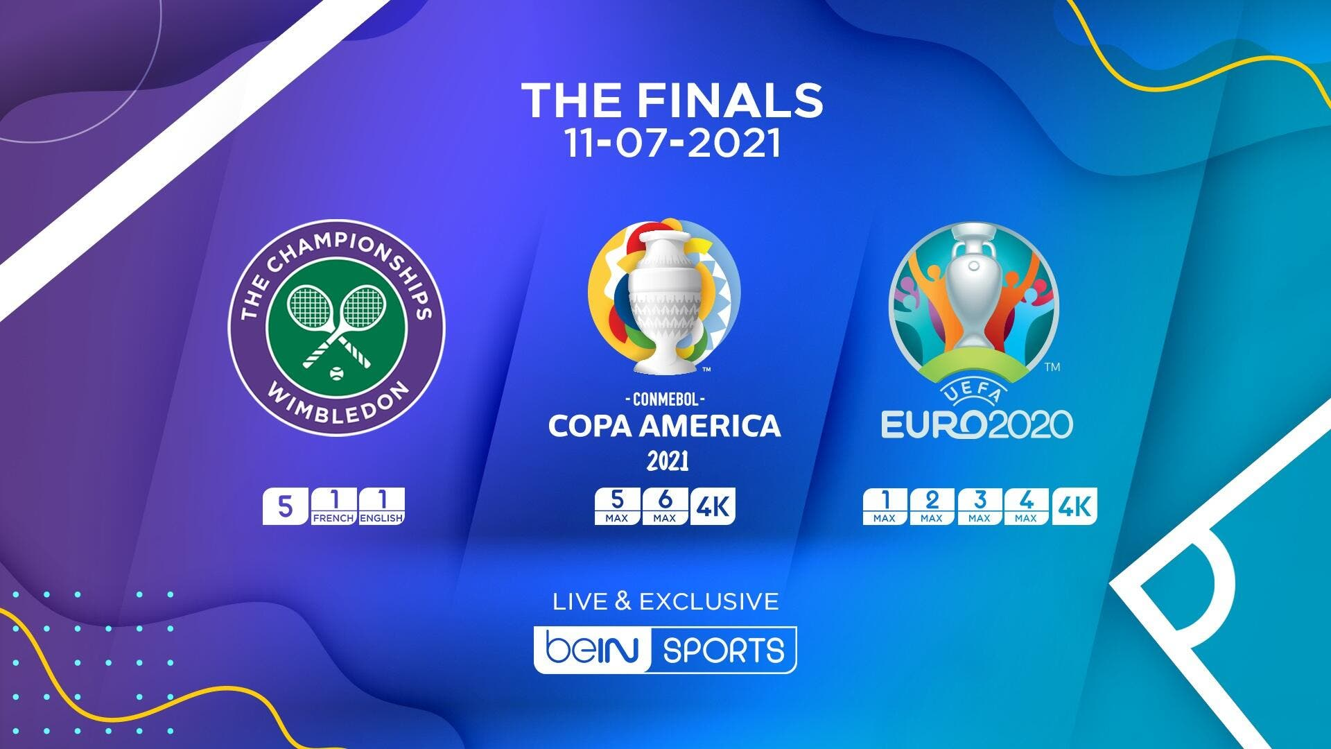 beIN SPORTS to Broadcast Unforgettable Day of Sports with UEFA EURO 2020, Copa America 2021, and Wimbledon 2021 Men's Single Finals   Al Bawaba