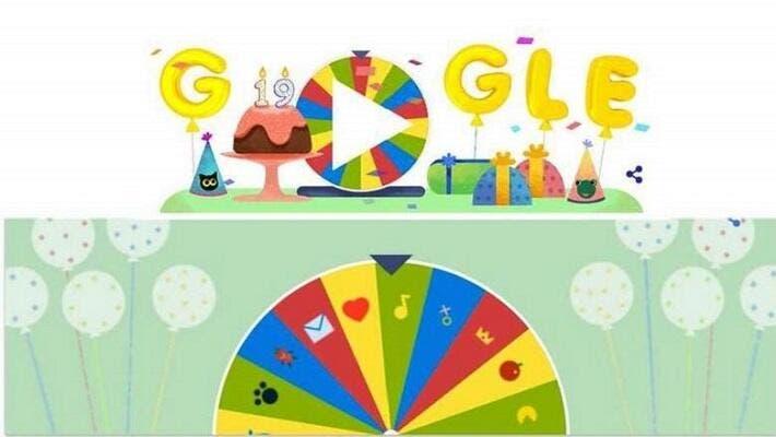 Google Celebrates 19th Birthday With 19 Surprises Spinning Wheel Al Bawaba
