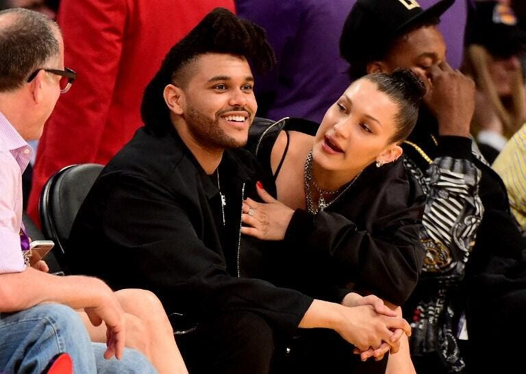 Courtside Courting Bella Hadid And The Weeknd Catch Kobe Bryant S Last Game Al Bawaba She is the daughter of yolanda foster, who was a star of the real housewives of beverly hills and mohamed hadid, a real estate developer. bella hadid and the weeknd catch kobe
