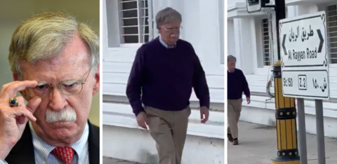 The Internet Has a Serious Question: Is This Man Walking Around Doha Actually John Bolton?