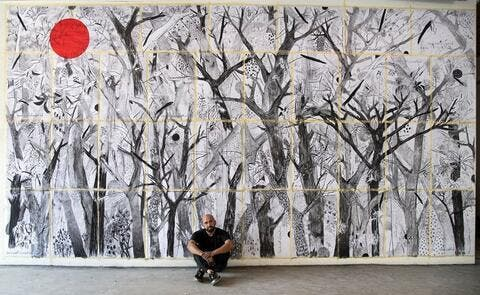 That Day Would be Yellow. Lebanese Artist Transforms His Art Space Into Open Canvas