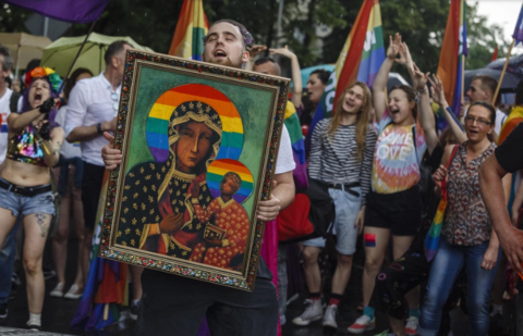Polish Activists on Trial For Picturing The Virgin Mary, Baby Jesus as LGBT-Affiliates