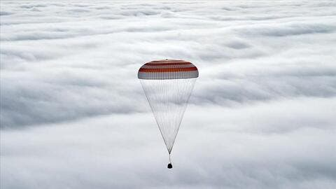 Three Astronauts Return From The ISS to Earth