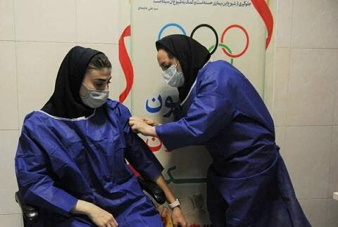 Iranian Olympic Athletes Receive Covid Vaccine