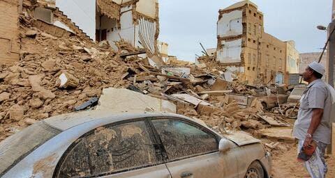Yemeni Heavy Flooding Kills 5 People, Displace Hundreds