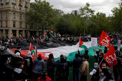 Thousands in Paris Rallies Call For 'Sanctions on Israel'