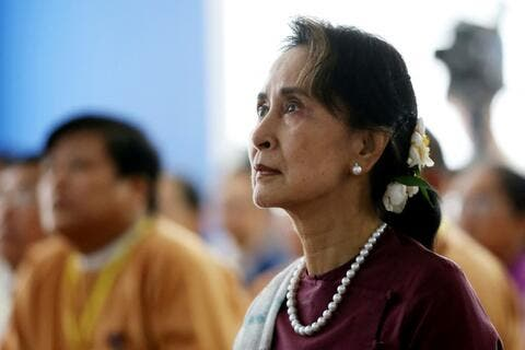 Deposed Leader Suu Kyi Appears for the First Time Since Myanmar Coup