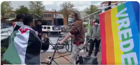 Pride or Peace Flag? Man Kicked out of Pro-Palestinian Rally in Netherlands