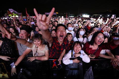 Thousands of Revelers Attend a Music Festival in Wuhan