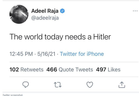 CNN Contributor Fired After Tweeting 'The World Today Needs a Hitler'