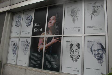 Jailed MENA Rights Defenders Included in Pittsburgh Free Expression Art Exhibit