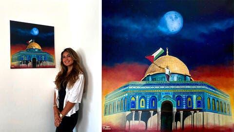Saudi Painter Raises Funds for Palestine