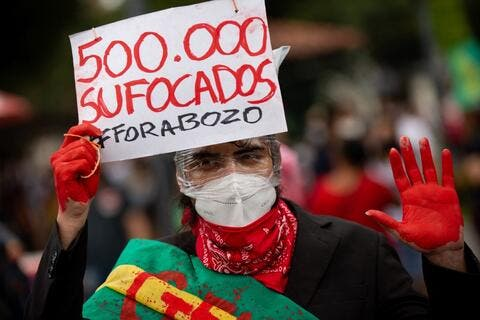 Brazil's COVID-19 Deaths Hit 500,000 Amid Nationwide Protests