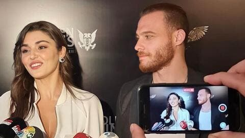 Golden Wings Awards Highlights: Kerem Bürsin and Hande Erçel Chemistry Steals the Spotlight (Video)