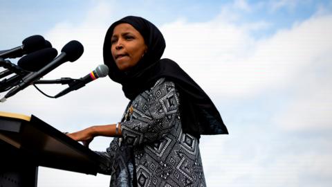 Anger at Ilhan Omar's Tweet Equating Hamas, Israel, the Taliban, and the US