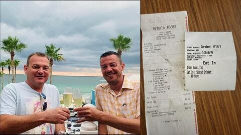 Homophobic Slur on Gay Couple's Recipet Amid First Official Pride Month