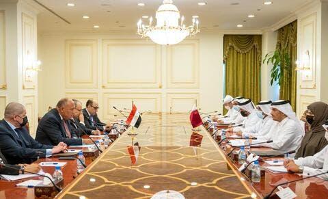 الدوحة: مباحثات رسمية بين مصر وقطر.. ورسالة من السيسي للأمير تميم