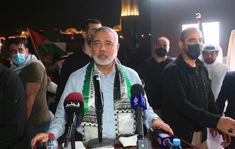 هنية في الدوحة بالتزامن مع رفض اسرائيل تسليم الاموال القطرية لحماس