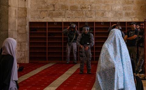 Israeli Forces Attack Muslims at Al-Aqsa Compound