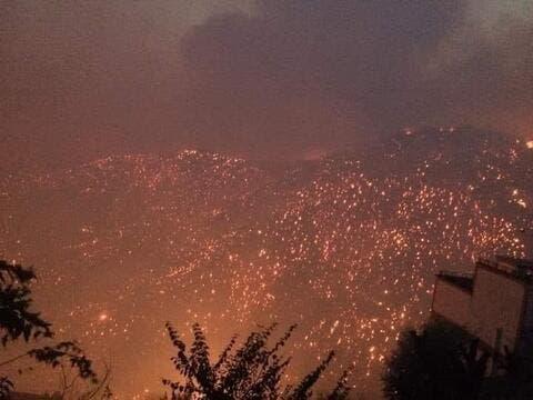 الجزائر: تنبيه احمر وارتفاع عدد ضحايا الحرائق وتبون يعلن الحداد