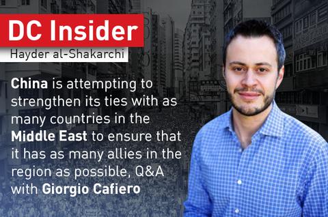 China in MENA: DC Insider Interview with Giorgio Cafiero