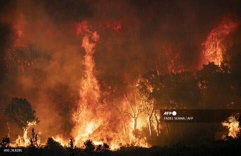 Fires Rage in Northern Morocco
