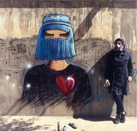 Taliban Militants Blur Women's Images Out of Street Adverts