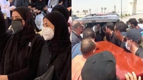 Devastating Video of Amy and Donia Samir Ghanem Touching Their Mother Dalal Abdel Aziz's Coffin for the Last Time