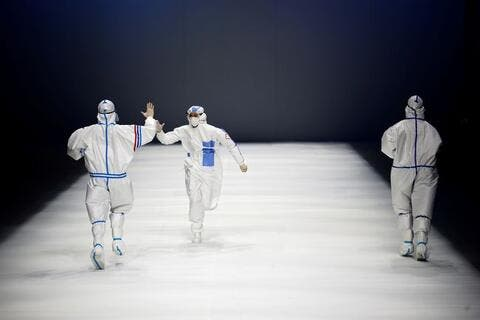 Healthcare Workers Inspire Runway at China Fashion Week in Beijing