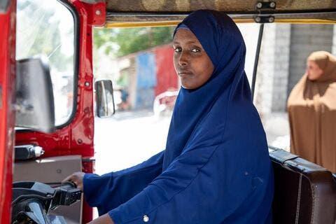 Saynab Abdikarin: First Woman Rickshaw Taxi Driver in Somalia