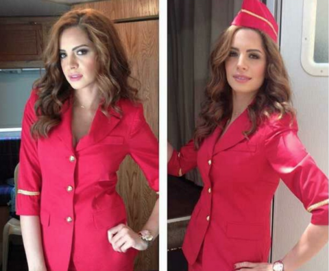 Singer Amal Maher turns air hostess for the day!