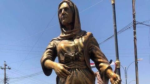 سنجار تزيح الستار عن تمثال إيزيدية قتلت أميرا في