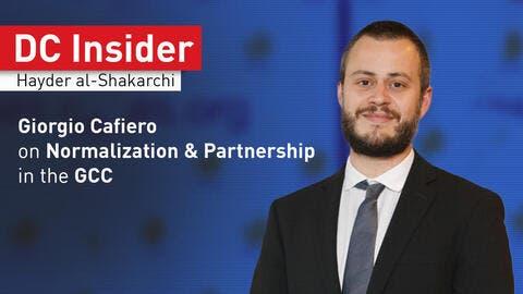 DC Insider: Giorgio Cafiero on Normalization & Partnership in the GCC