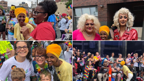 Ilhan Omar Accused of Hypocrisy for Marching at Minnesota Pride